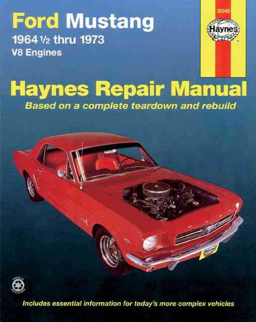 Ford Mustang I, 1964 1/2-1973 By Haynes, John Harold/ Gilmour, Bruce/ Daniels, Marcus S.